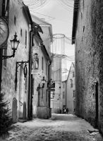 Side alley in Tallinn by Pajunen