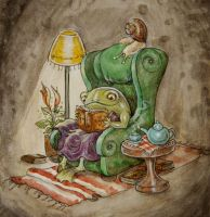 Frog's Quiet Night In by liselotte-eriksson
