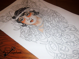 Flapper girl tattoo request design by RosieColquhoun