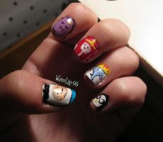 Week 23 Adventure Time Nails 1 by WaterLily-95