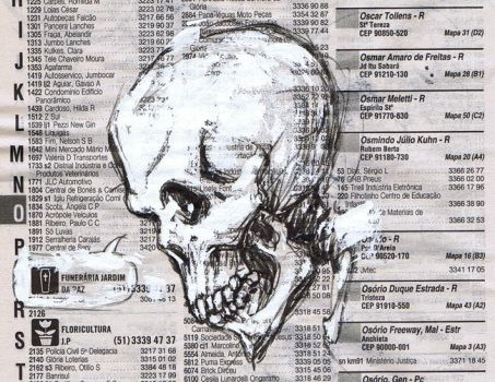 Phone Sketch Book_Skull by Santolouco