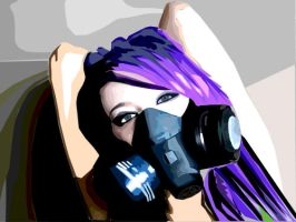 Porcelain's Gas mask by cathywathy