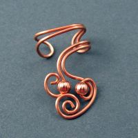 Swirly Copper Ear Cuff by sylva