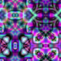 Psychodelic Abstract Tiles by 1DeViLiShDuDe