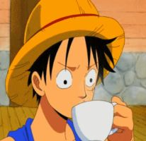 Luffy Coffee - GIF by Yasithecat