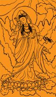 Tarot: Temperance uncoloured by iscalox