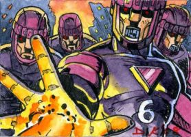 Sentinels Sketch Card by DKuang