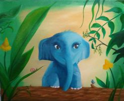 Elephant for Baby by JessicaSoulier