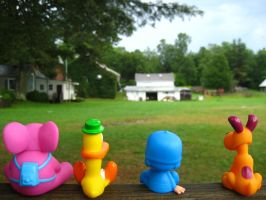 Pocoyo and Friends: Bleachers by joshmb509