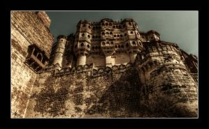 mehrangarh fort HDR by cradeloso