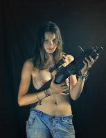 Asja and gun #2 by ohlopkov