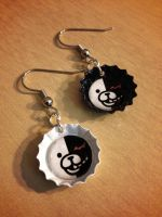 Monobear Dangan Ronpa Earrings - Handmade by Monostache