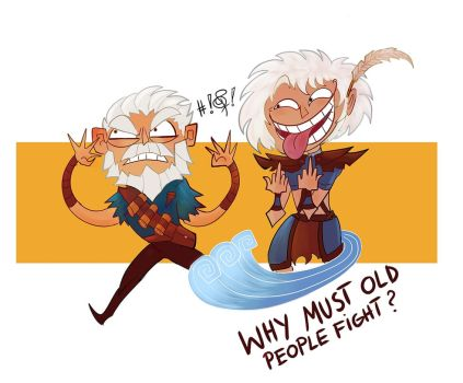 Why must old people fight? by FlyingCarpets