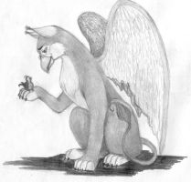 gryphon and bird by laechka