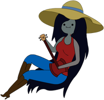 Marceline with a Guitar by Kirbx
