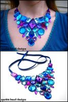 Blue and Purple Gem Bib by Natalie526