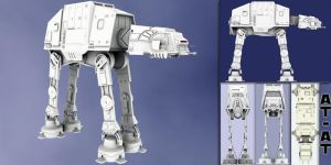 AT-AT from STAR WARS by Myssi-McF