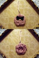 Dusty Rose Flower Charm by PinayChicksRock