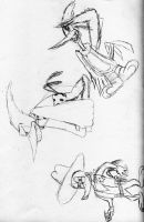 Woody sketches by Zaclonius