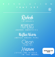 Revolution | FONT SET | by Burn-the-life