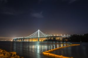 New eastern span of the SF Bay Bridge by rennfahrer