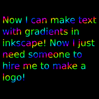 rainbow gradient text example by 10binary