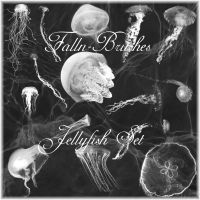 Jellyfish Brushes Set by Falln-Stock
