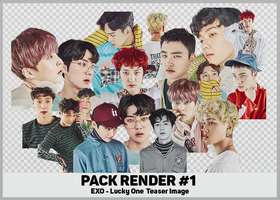 [PACK RENDER#1] EXO LUCKY ONE TEASER by DTD12