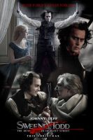 Sweeny Todd Movie Poster by lazerus1500