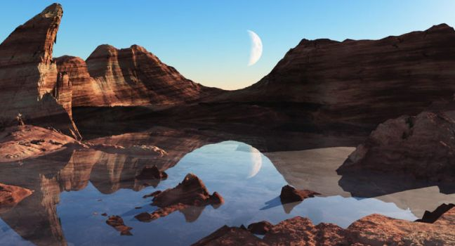 Moonscape by 5p34k