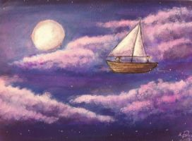 Sailboats Wish That They Were Stars by Bella-Anima