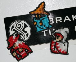 Final Fantasy 1 Mages Magnets by StitchPlease