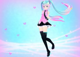 [MMD] Electric Love Miku by sailor-rice