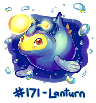 Pokemon #171 - Lanturn! by oddsocket