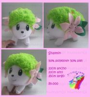 Shaymin plush pokemon handmade by chocoloverx3