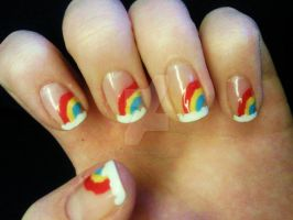 Rainbow tips by CharlotteMosey