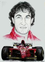 Jean Alesi Tribute by machoart