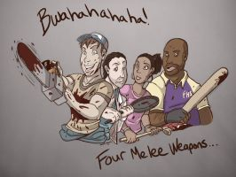 Four Melee Weapons by Special-Sari