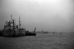 China Shanghai port 1970s by BlackWhitePictures