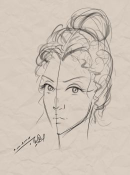 Lady Sketch by Suhaib