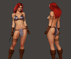 RED SONJA: The She-Devil with a sword. by Furbs3D