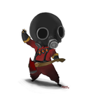 Tiny red pyro by Liedeke