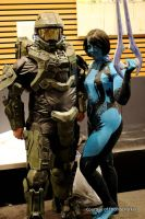 Master Chief and Cortana at AVCon 2014 by Old-Trenchy