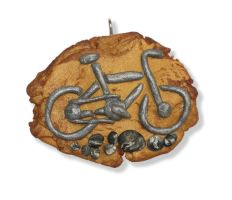 Mountain bike fossil pendant by Dinuguan