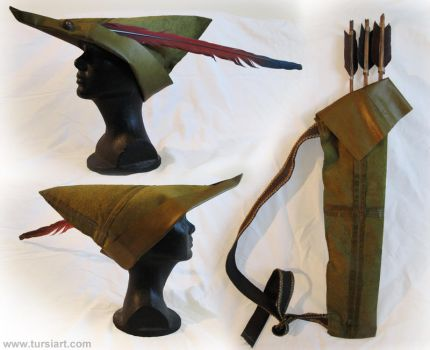 Robin Hood Hat and Quiver by tursiart