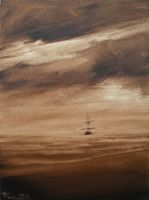 Seascape  Sailing Boat Oil paint by Boias