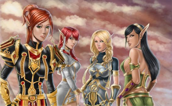Girls at dawn by Jefonyx