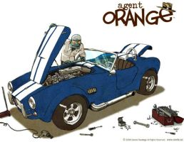 Agent Orange with Cobra by darrenrawlings