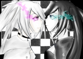 Black rock Shooter vs White rock Shooter by TacToki