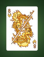 8 of Hearts aka 8 of Fire by LineDetail